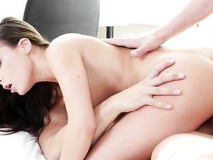Teen Double Penetration Stretches The Skinny Girl