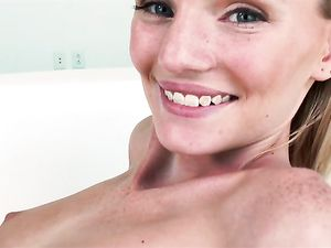 Super Cute Blonde 18 Year Old Takes A Big Cock