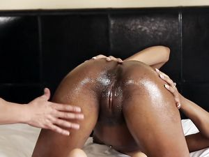 Nutting On The Face Of A Tight Ebony Girl