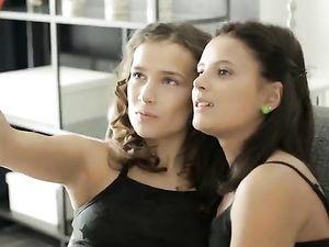 Teen Moans Fill The Air As Lesbian Girls Hook Up