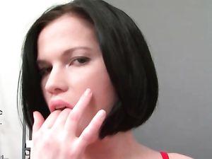 Bubble Butt Cutie Fucks Her Massive Dildo
