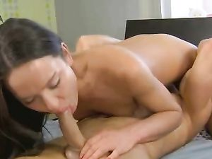 Skinny Cutie In Knee Highs Takes A Good Fucking
