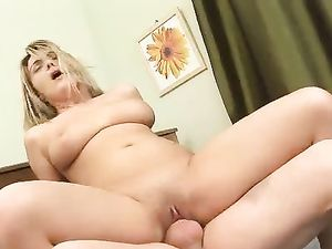Chubby Cock Craving Slut Fucked In A Bedroom Scene
