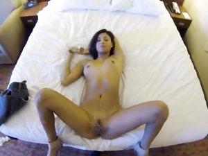Reverse Cowgirl Riding With A Cute Brunette