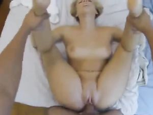 Blonde Teen Gets Her Shaved Pussy Pounded