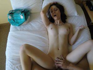 Juicy Cum Shot For A Brunette Hottie In The Hotel