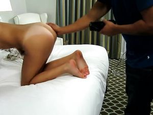 Tanned 19 Yo Fucking For A Hot Cum Shot