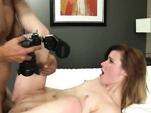 Hot Cum Shot For A Lovely Brunette Angel