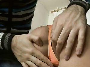 Denim Miniskirt Slut Bends Over For Hot Ass Fucking