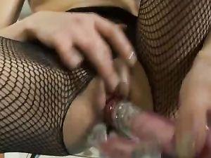 Vibrating And Spinning Dildo Fucks A Teenage Beauty