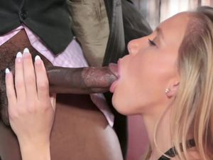 Incredible Blonde Teen Loves Playing With A Big Cock