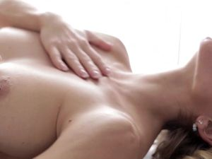 Lesbian Lovers Enjoy Giving Massages And Kissing