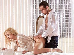 Erotic Sex With A Beautiful Blonde Girl