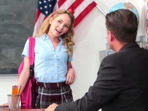 Beautiful Schoolgirl Seduces Her Sex And Gets Fucked