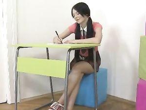 Bored Teen Schoolgirl Gets Fucked To Make Her Day Better